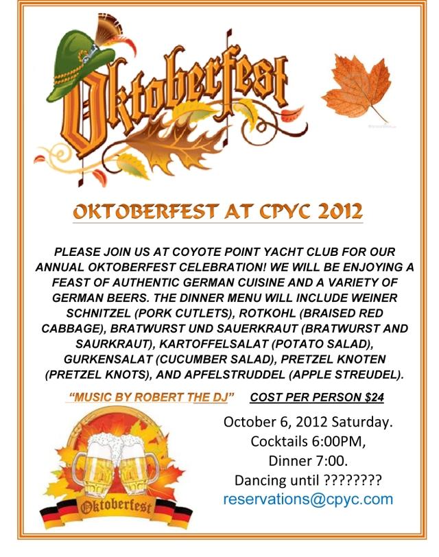 Oktoberfest Party Oct. 6